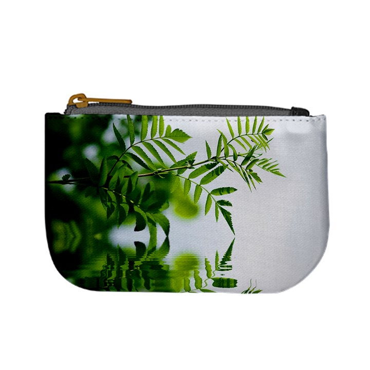 Leafs With Waterreflection Coin Change Purse