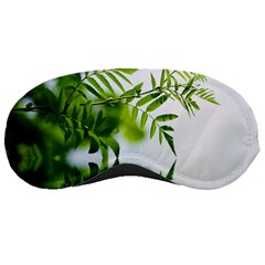 Leafs With Waterreflection Sleeping Mask