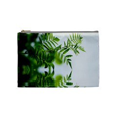 Leafs With Waterreflection Cosmetic Bag (Medium)
