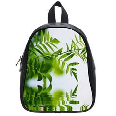 Leafs With Waterreflection School Bag (Small)