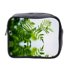 Leafs With Waterreflection Mini Travel Toiletry Bag (Two Sides)