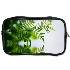 Leafs With Waterreflection Travel Toiletry Bag (two Sides)