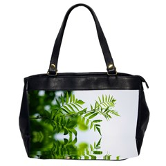 Leafs With Waterreflection Oversize Office Handbag (Two Sides)