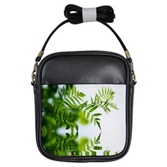 Leafs With Waterreflection Girl s Sling Bag