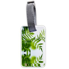 Leafs With Waterreflection Luggage Tag (two Sides)
