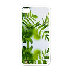 Leafs With Waterreflection Apple iPhone 4 Case (White)