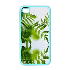 Leafs With Waterreflection Apple Iphone 4 Case (color)