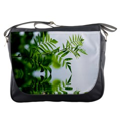 Leafs With Waterreflection Messenger Bag