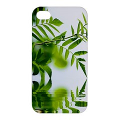 Leafs With Waterreflection Apple iPhone 4/4S Premium Hardshell Case