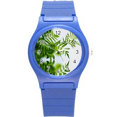 Leafs With Waterreflection Plastic Sport Watch (small)