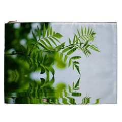Leafs With Waterreflection Cosmetic Bag (XXL)