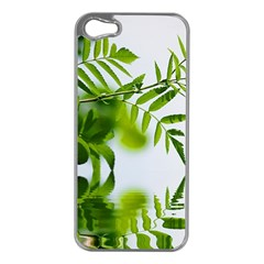 Leafs With Waterreflection Apple Iphone 5 Case (silver)