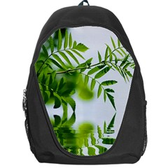 Leafs With Waterreflection Backpack Bag