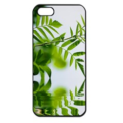 Leafs With Waterreflection Apple iPhone 5 Seamless Case (Black)