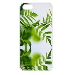 Leafs With Waterreflection Apple Iphone 5 Seamless Case (white)