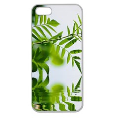 Leafs With Waterreflection Apple Seamless Iphone 5 Case (clear)
