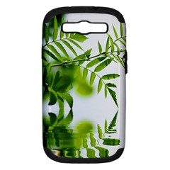 Leafs With Waterreflection Samsung Galaxy S Iii Hardshell Case (pc+silicone)