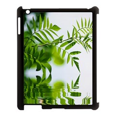 Leafs With Waterreflection Apple Ipad 3/4 Case (black)