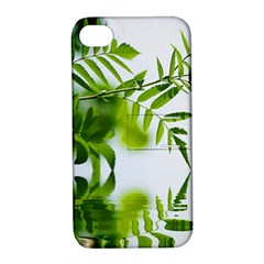 Leafs With Waterreflection Apple iPhone 4/4S Hardshell Case with Stand