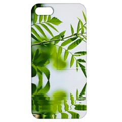 Leafs With Waterreflection Apple iPhone 5 Hardshell Case with Stand