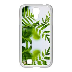 Leafs With Waterreflection Samsung Galaxy S4 I9500/ I9505 Case (white)