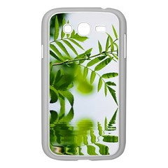 Leafs With Waterreflection Samsung Galaxy Grand DUOS I9082 Case (White)