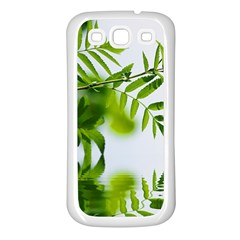 Leafs With Waterreflection Samsung Galaxy S3 Back Case (white)