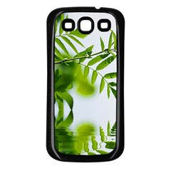 Leafs With Waterreflection Samsung Galaxy S3 Back Case (Black)