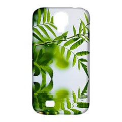 Leafs With Waterreflection Samsung Galaxy S4 Classic Hardshell Case (pc+silicone)