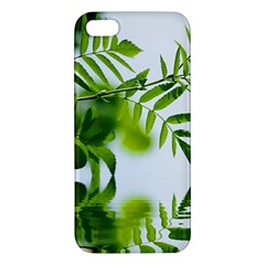 Leafs With Waterreflection Iphone 5s Premium Hardshell Case