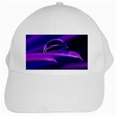 Waterdrop White Baseball Cap