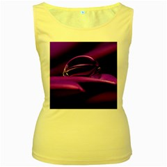 Waterdrop Womens  Tank Top (yellow)