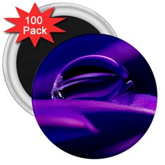 Waterdrop 3  Button Magnet (100 pack)