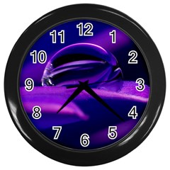 Waterdrop Wall Clock (black)