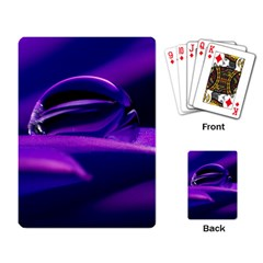 Waterdrop Playing Cards Single Design