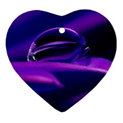 Waterdrop Heart Ornament (Two Sides)