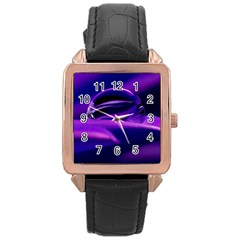Waterdrop Rose Gold Leather Watch
