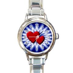 Love Round Italian Charm Watch