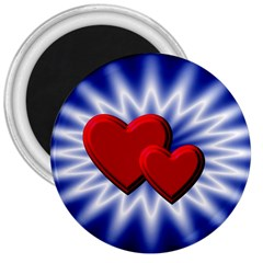 Love 3  Button Magnet