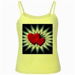 Love Yellow Spaghetti Tank