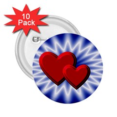 Love 2 25  Button (10 Pack)