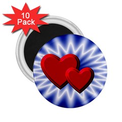 Love 2 25  Button Magnet (10 Pack)