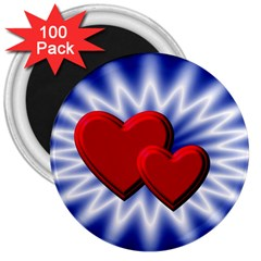 Love 3  Button Magnet (100 pack)