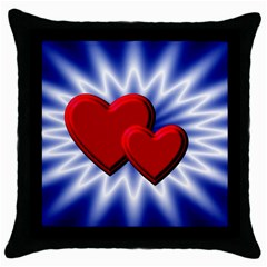 Love Black Throw Pillow Case