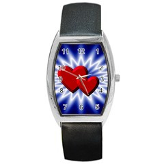 Love Tonneau Leather Watch