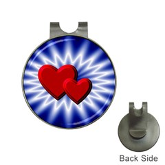 Love Hat Clip with Golf Ball Marker