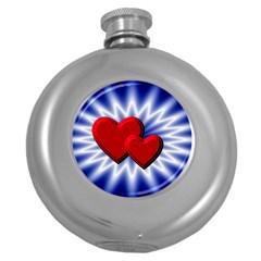 Love Hip Flask (Round)