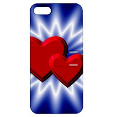 Love Apple iPhone 5 Hardshell Case with Stand