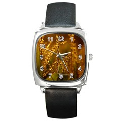 Field Square Leather Watch