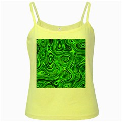 Modern Art Yellow Spaghetti Tank